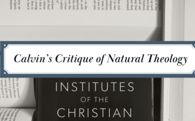 Calvin's Critique of Natural Theology [Pt. 2 of 2]: Analysis and Conclusion
